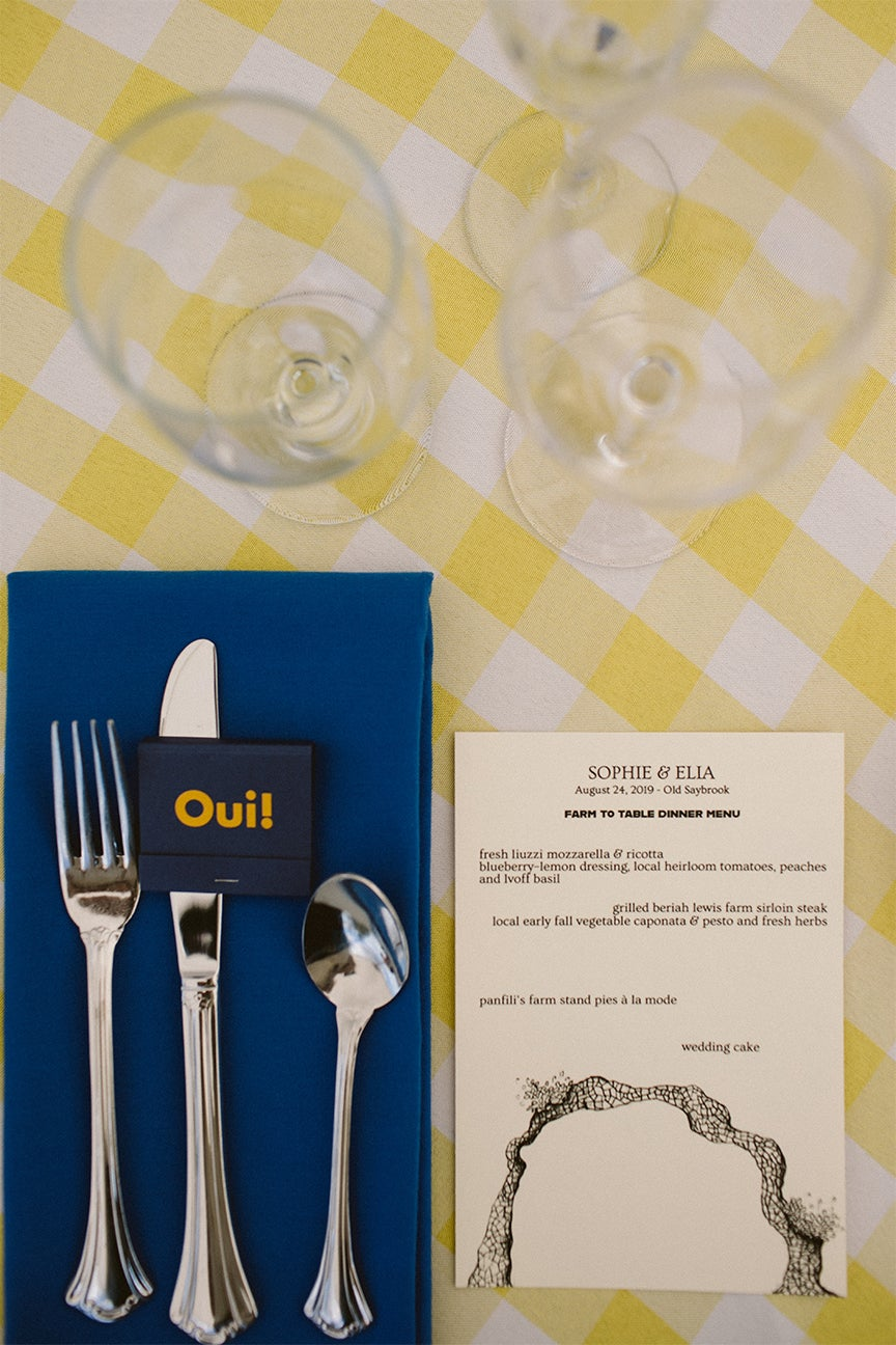 yellow gingham tablecloth