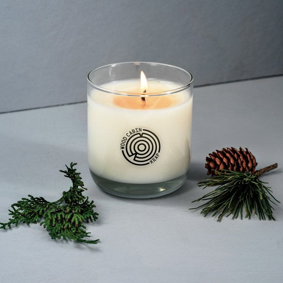 Wood Cabin candle