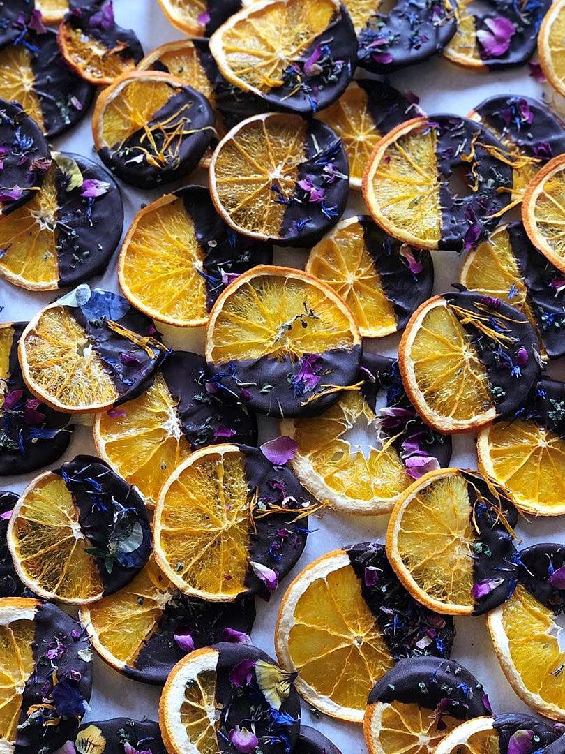 chocolate covered oranges