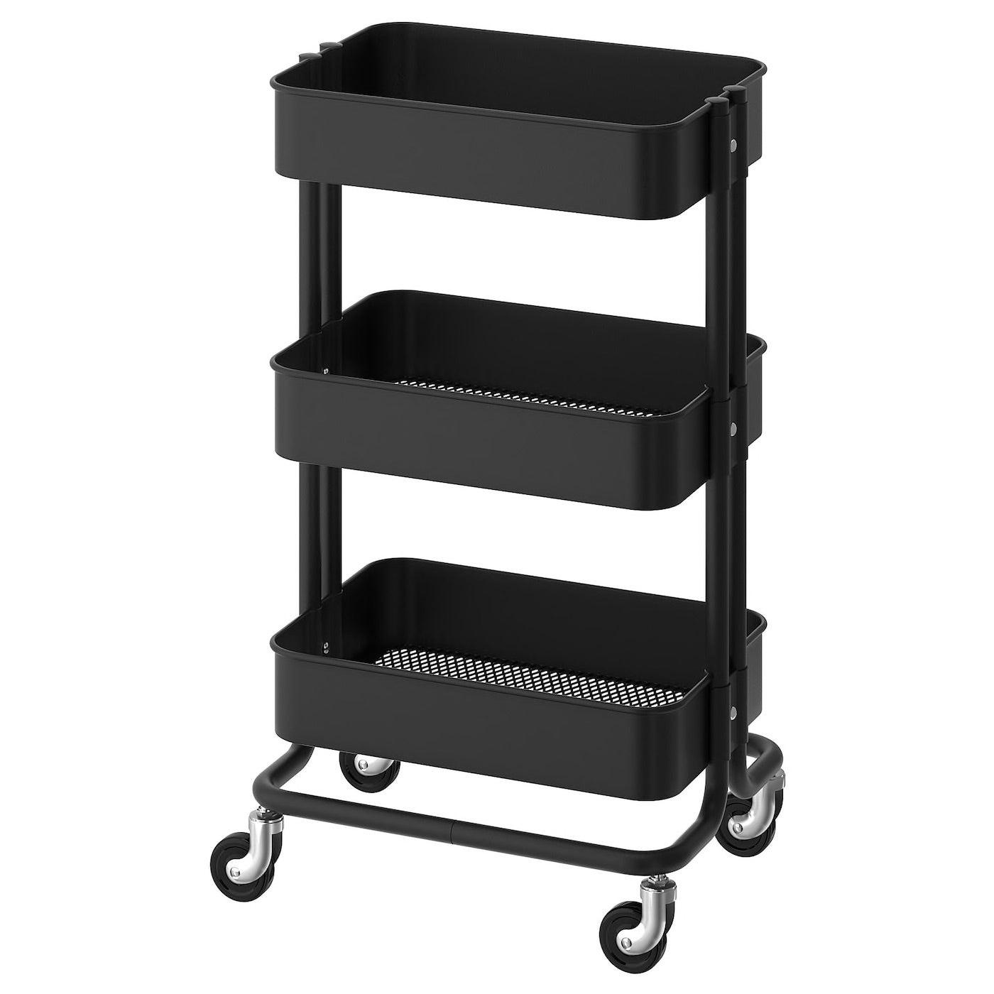 Black utility cart
