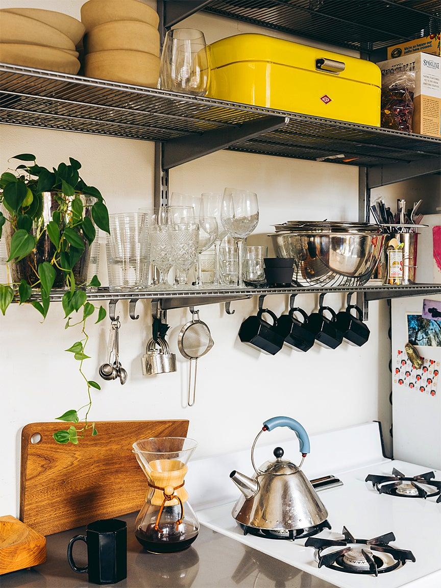 Apartment kitchen stove