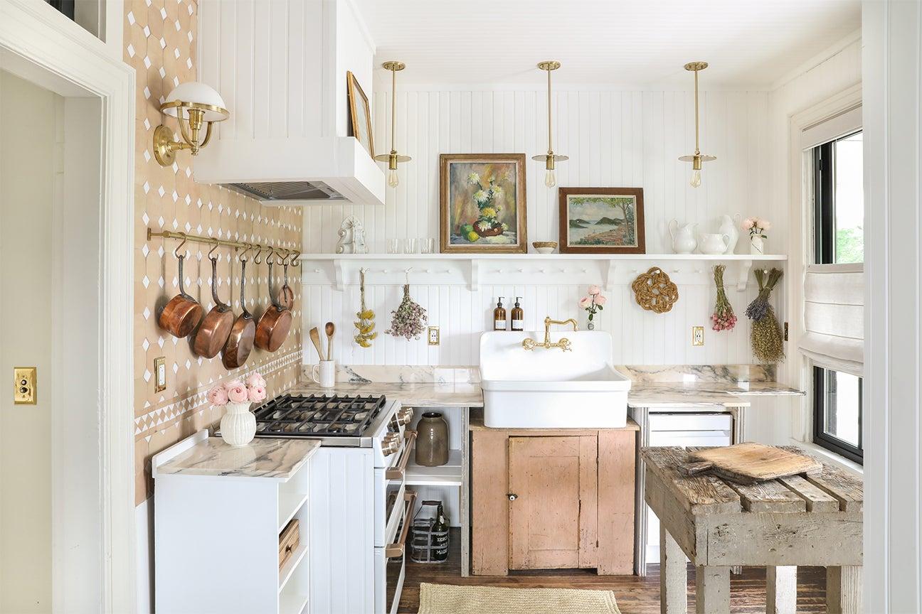 rustic warm toned kitchen