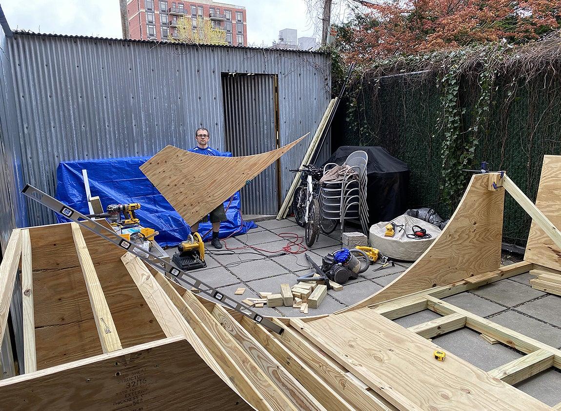 Devon building the ramp