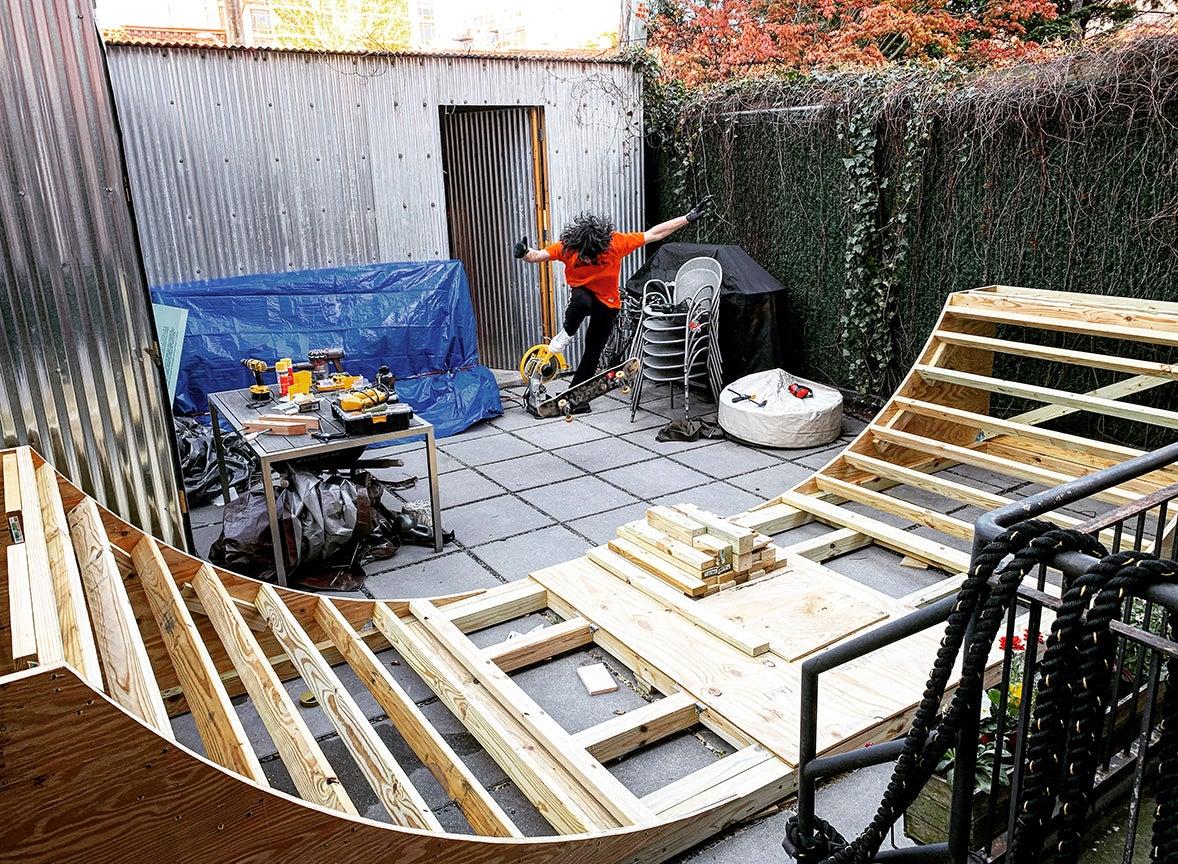 Progress shot of the ramp