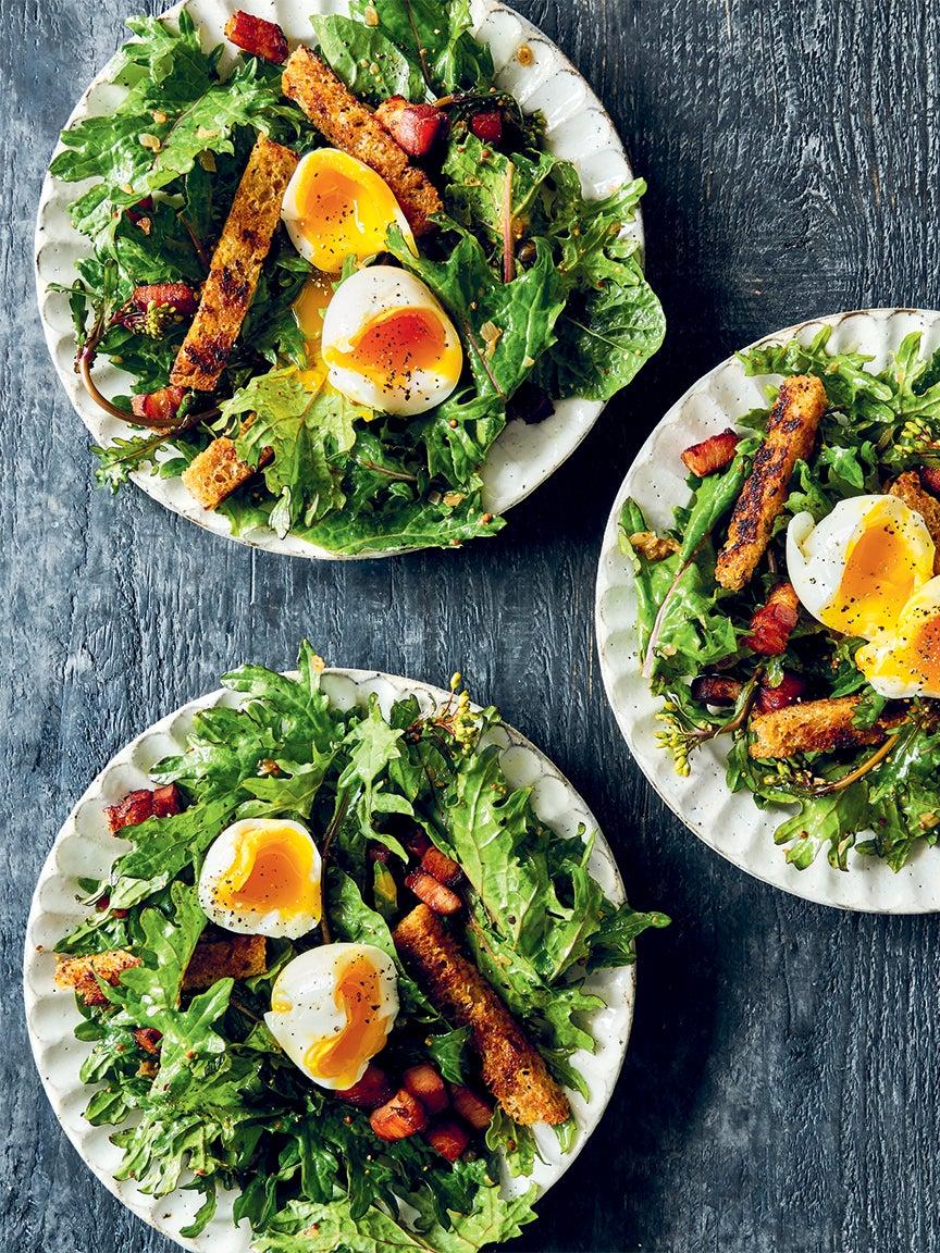 soft boiled egg kale salad