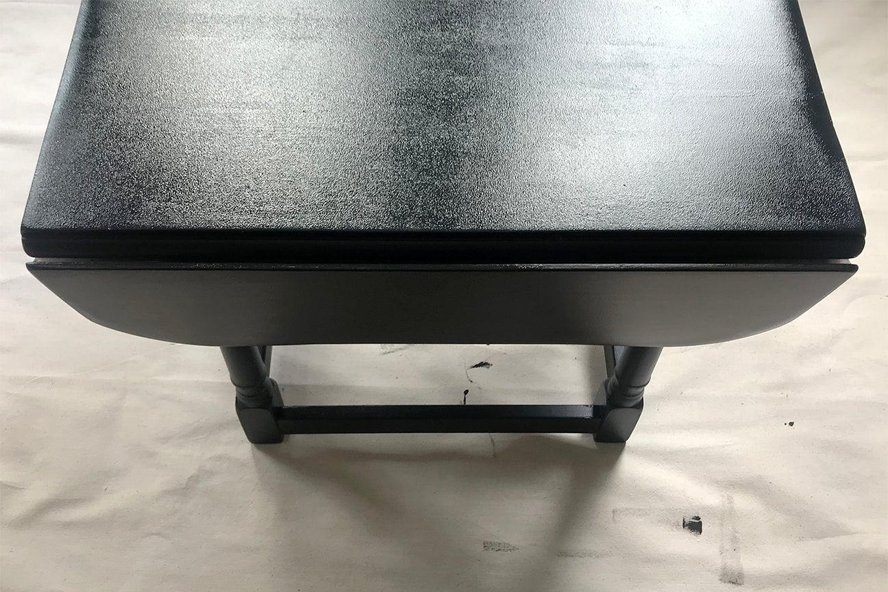 After - black table