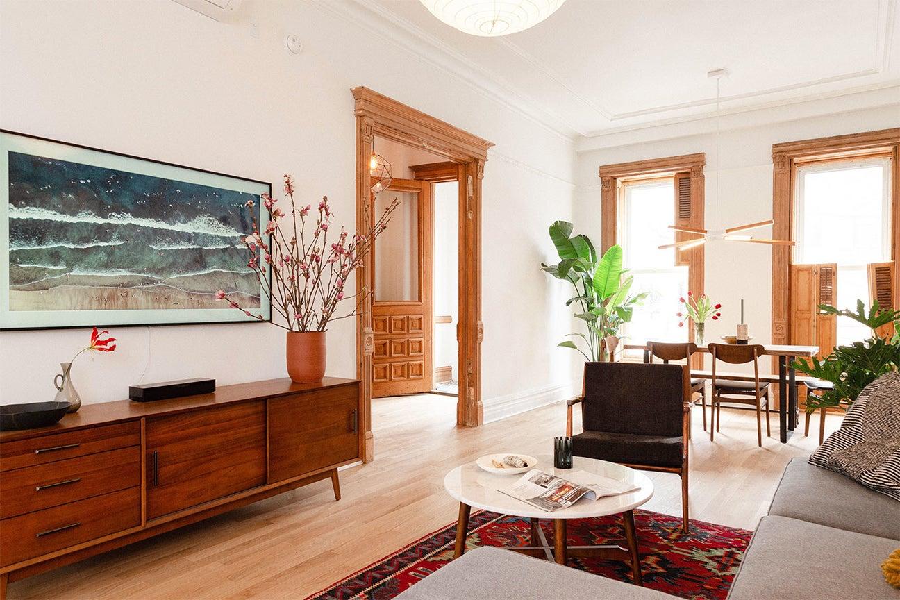 The Brownstone Boys Brooklyn living room