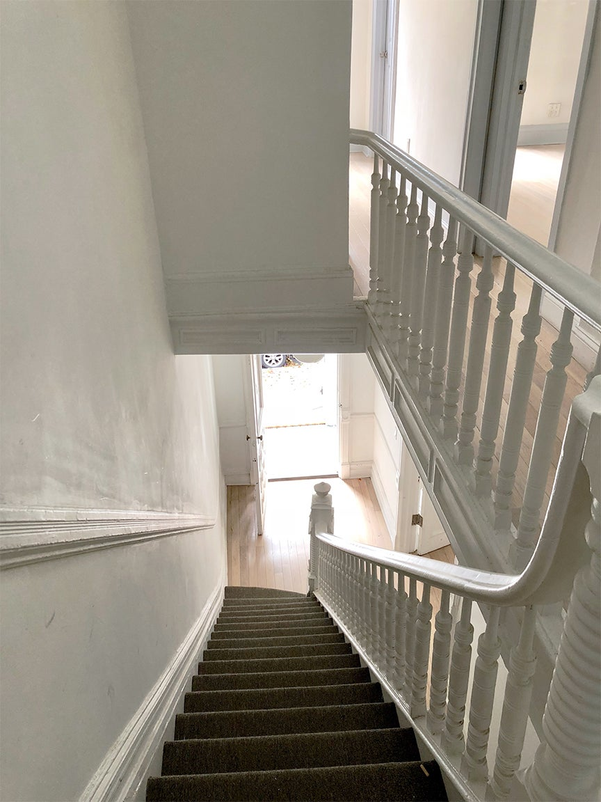 Staircase painted before