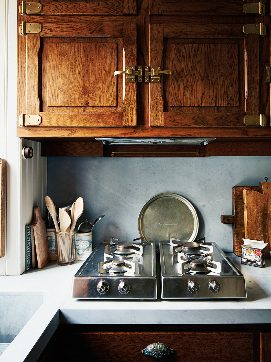 Small kitchen with stovetop