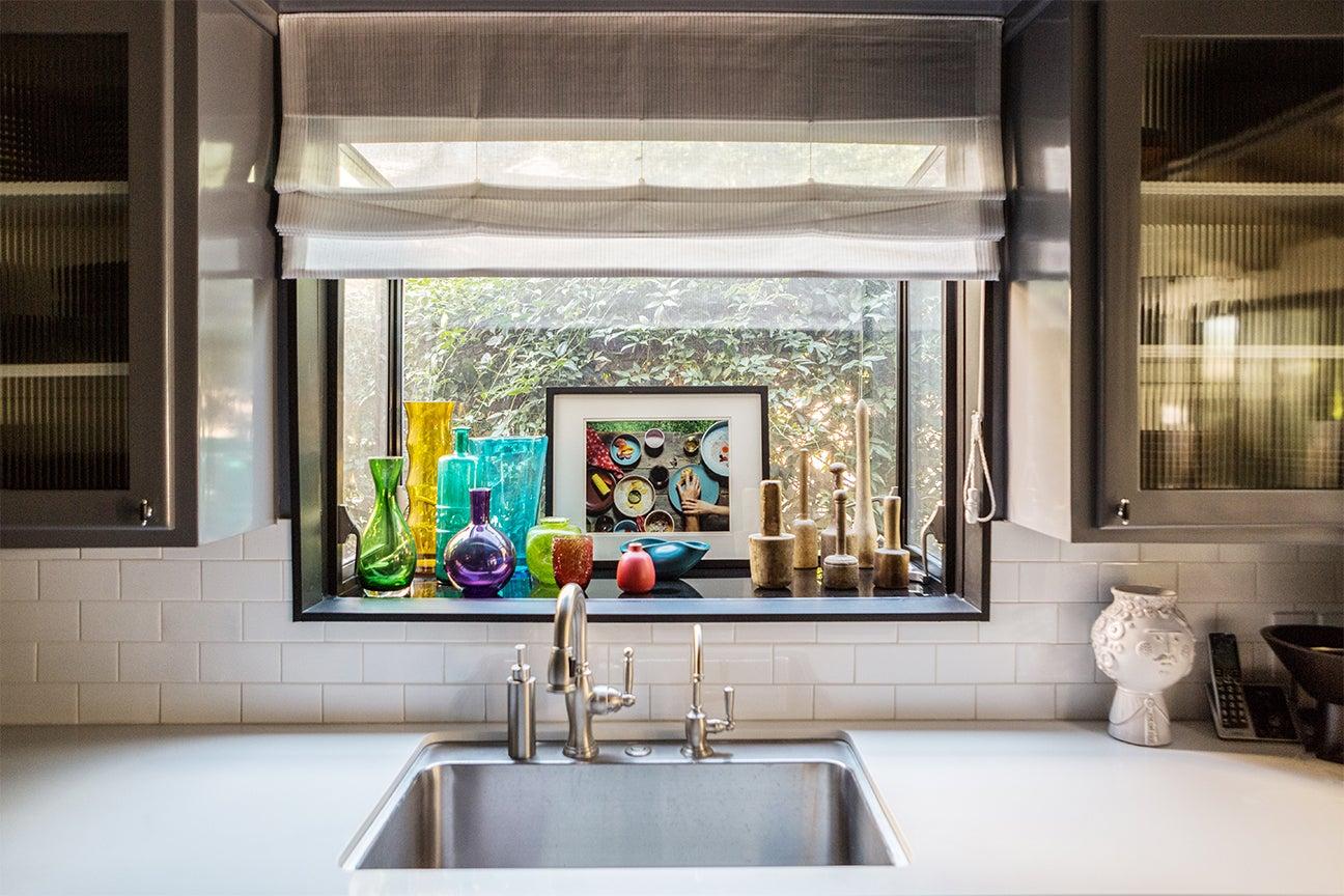 Window above kitchen sink