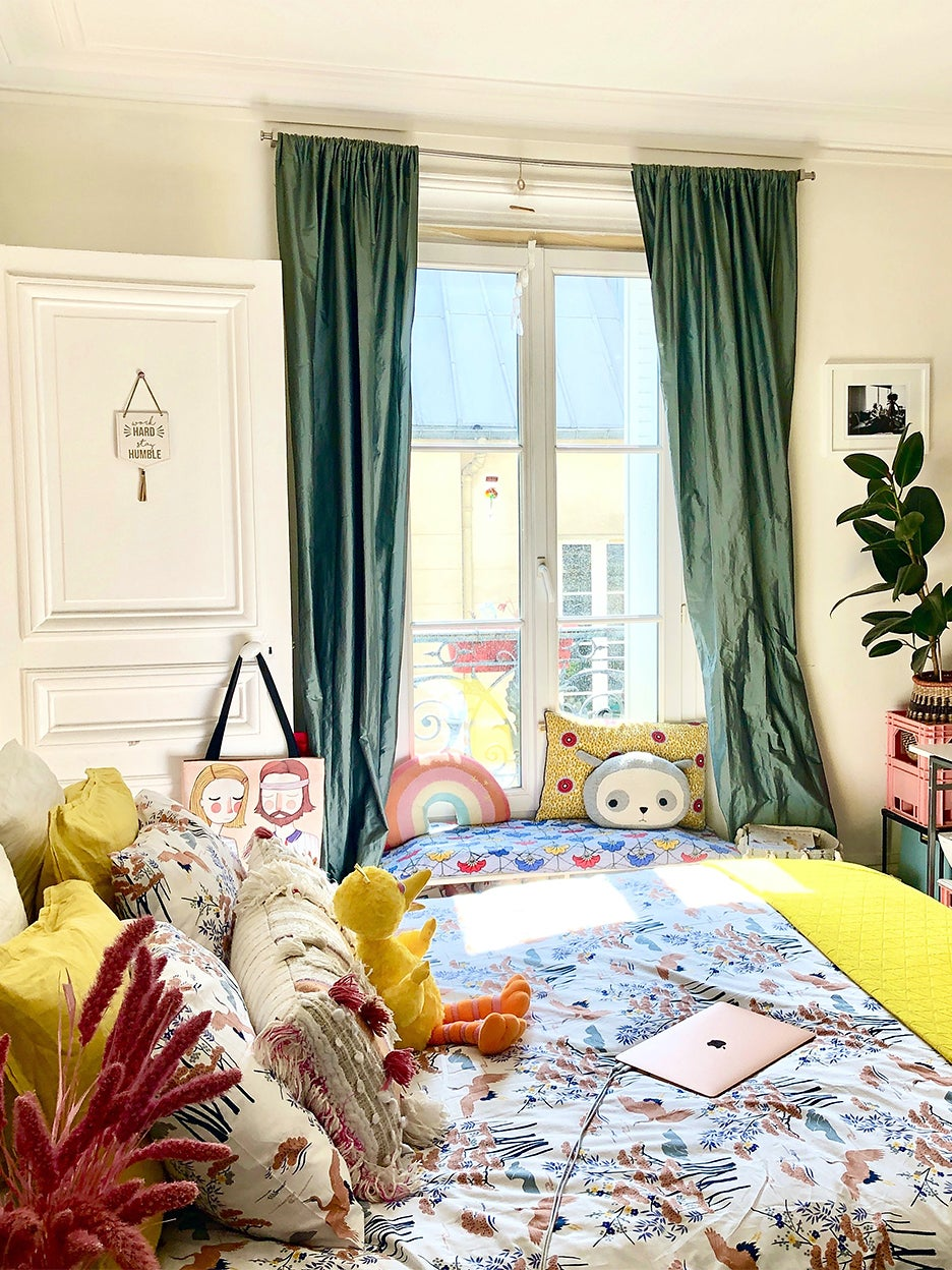 Colorful French apartment