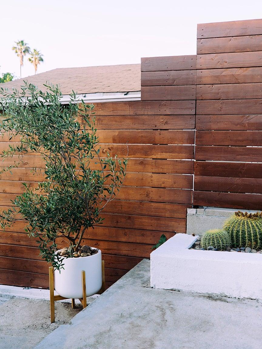 dark wood garden fence