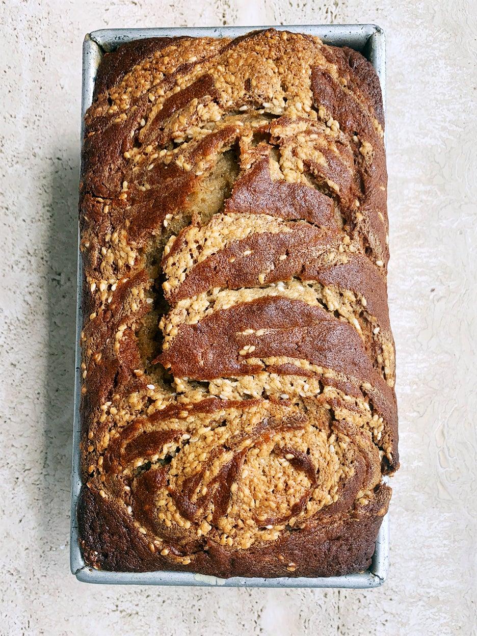 maple swirl tahini bread