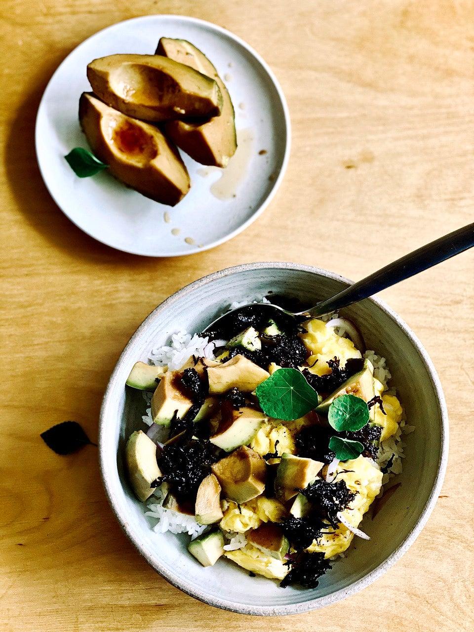 avocado and egg bowl