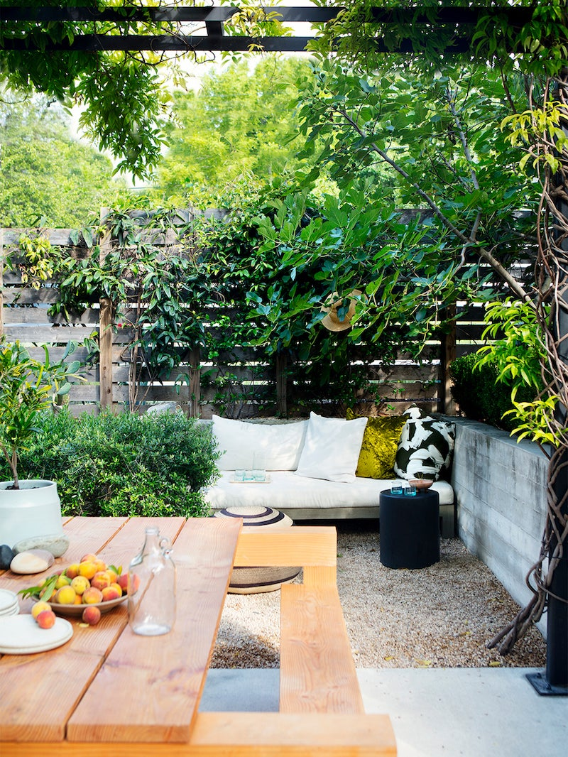 An Outdoor Space Made for Social Distancing, Down to the Dining Table