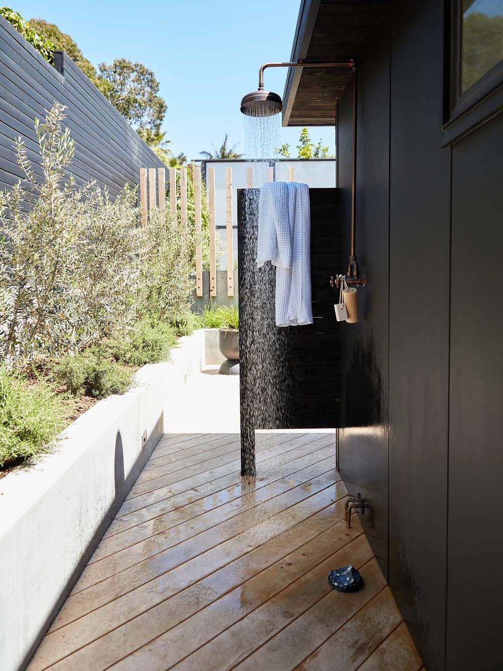 Erin Hiemstra's outdoor shower