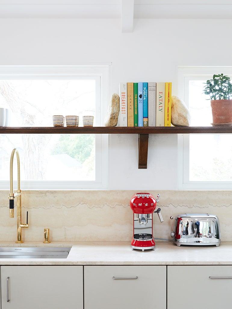 shelf across a window