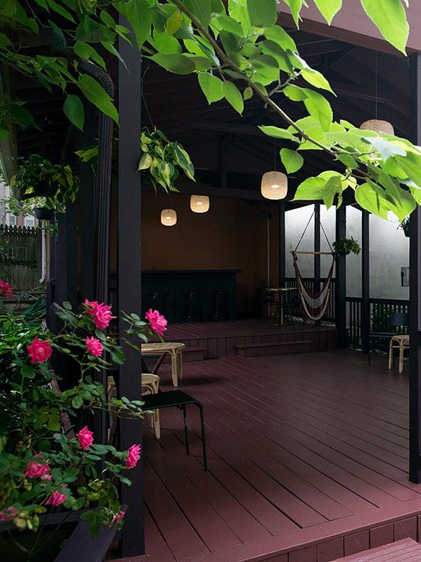 HealHaus outdoor patio