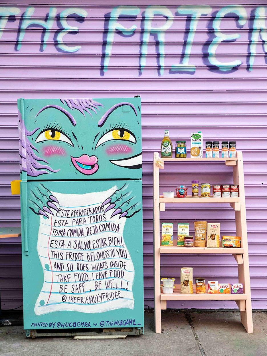 Painted community fridge