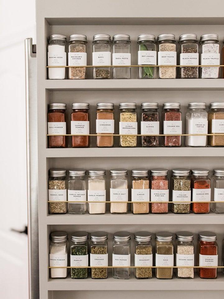 Simple gray spice rack