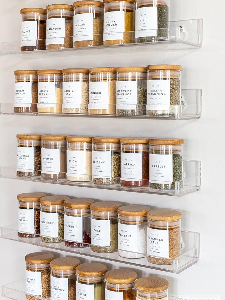 Plastic floating shelves