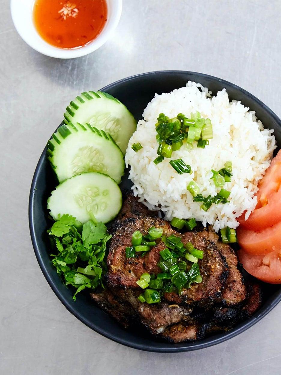 BBQ pork and rice