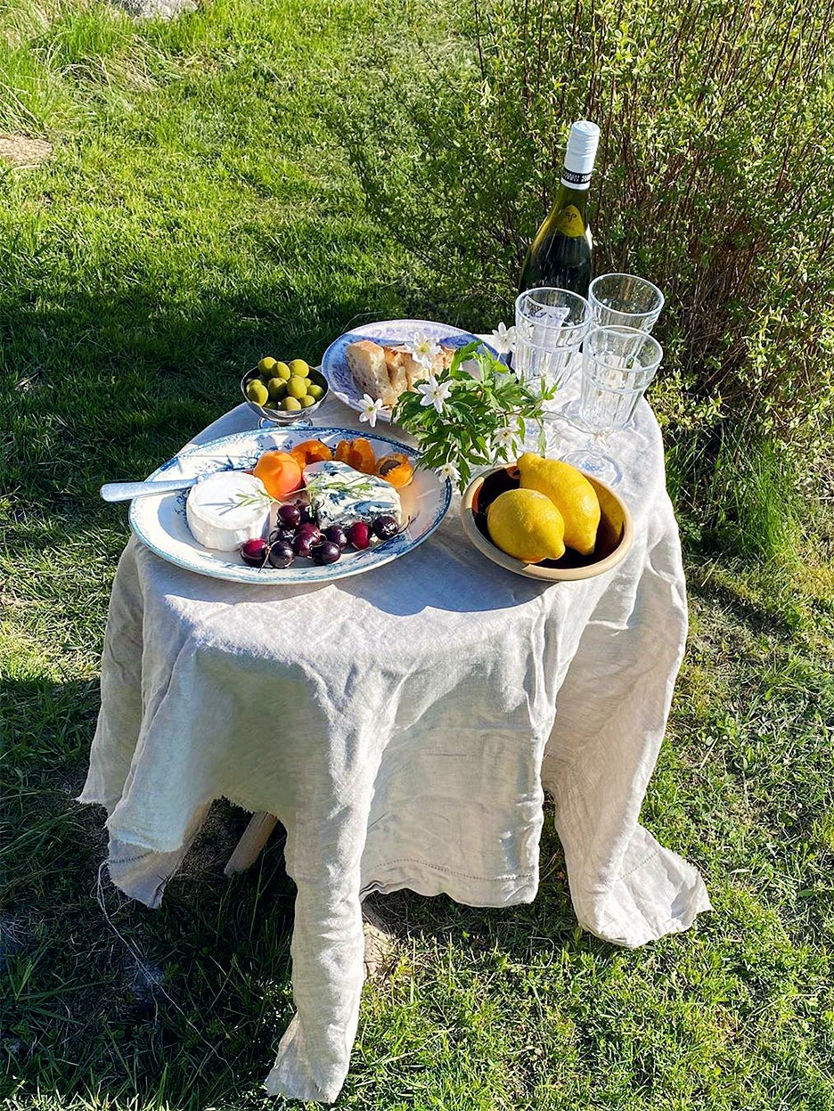 Picnic spread on table