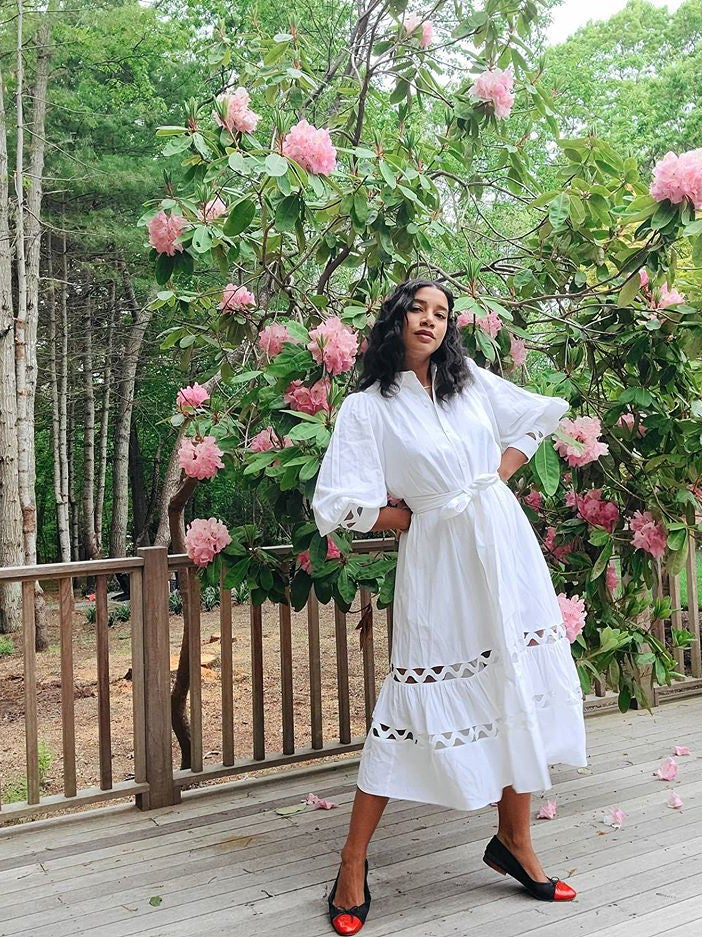 Hannah bronfman in white dress