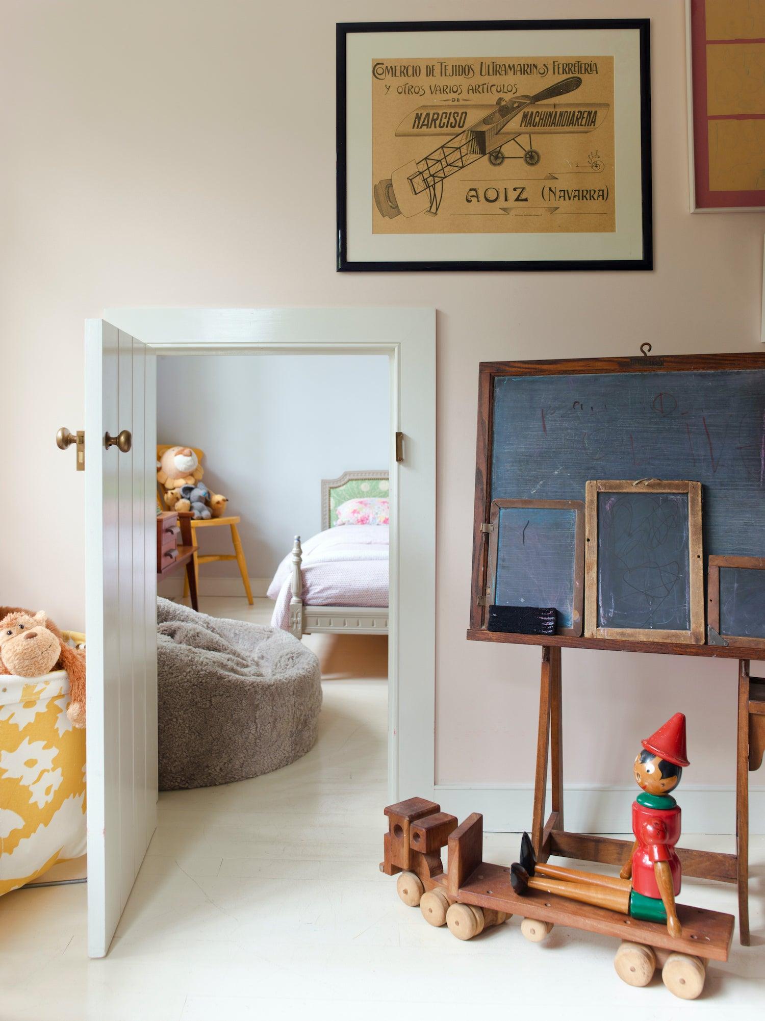 Mini door in kids room