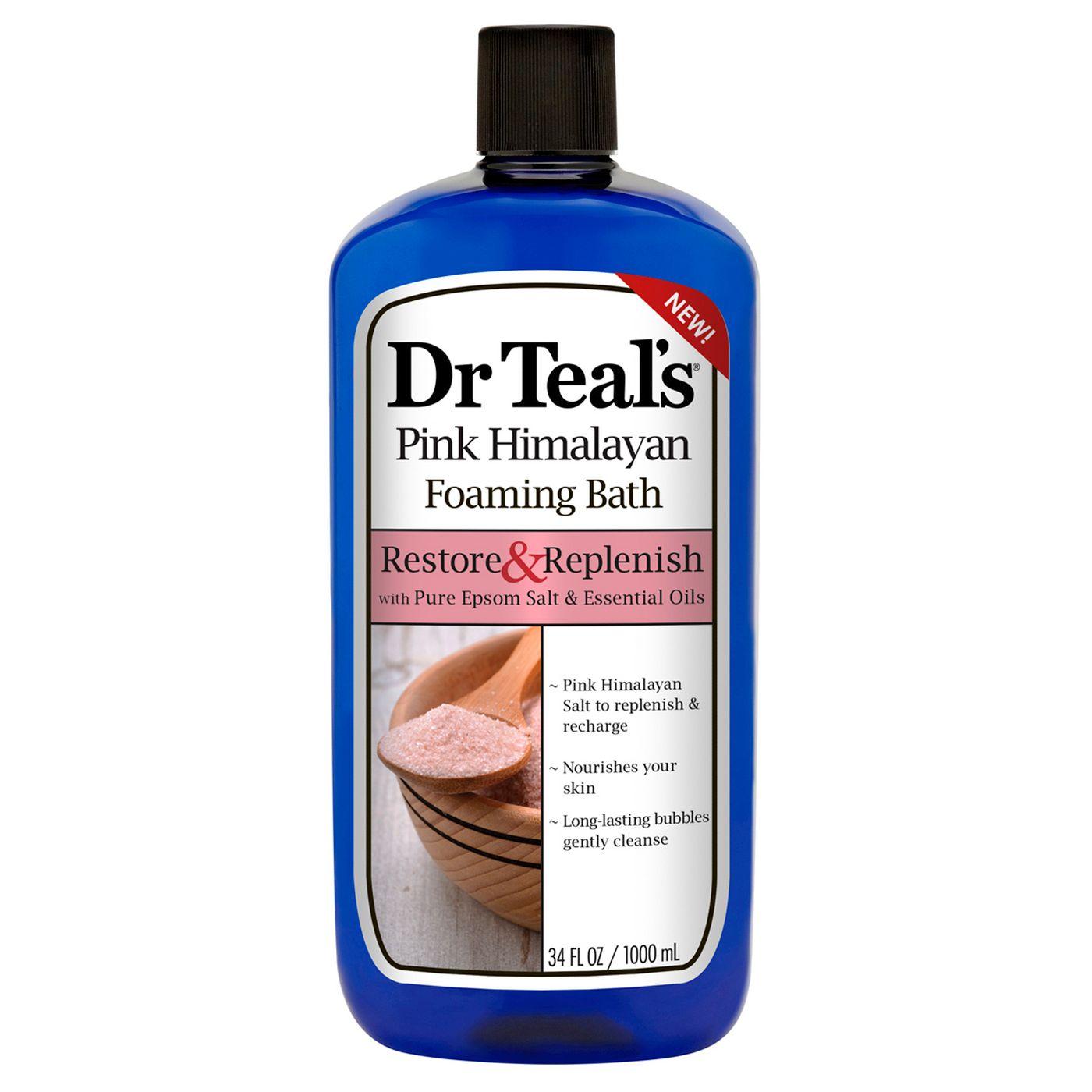 Dr Teal's Pure Epsom Salt & Essential Oils Restore & Replenish Pink Himalayan Foaming Bath