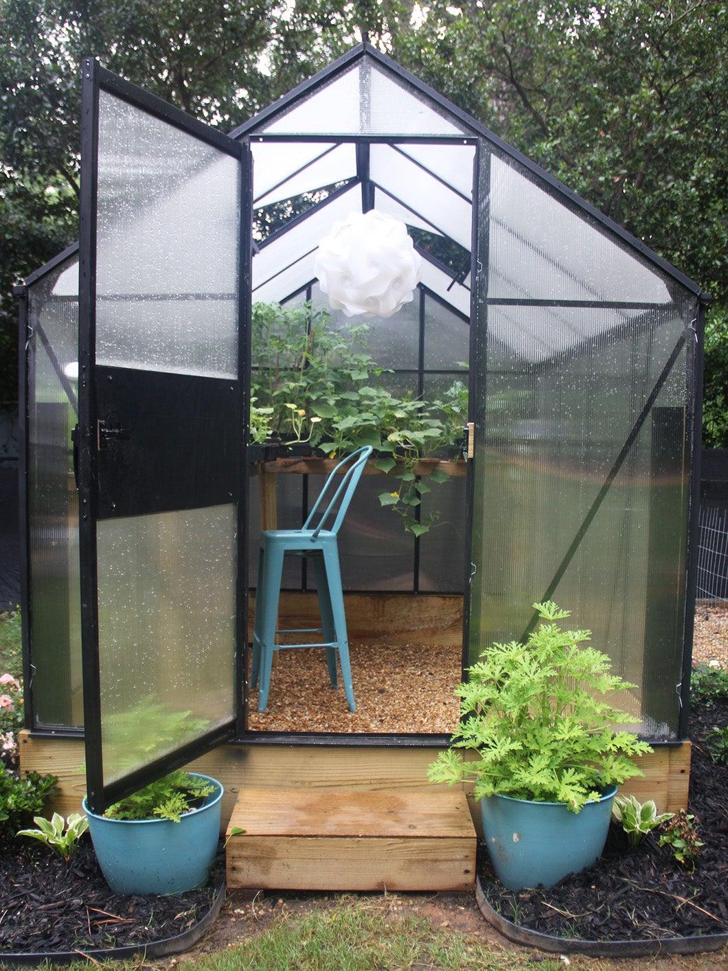 greenhouse with door