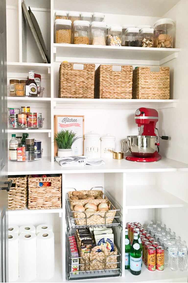 Pantry with built-in shelves