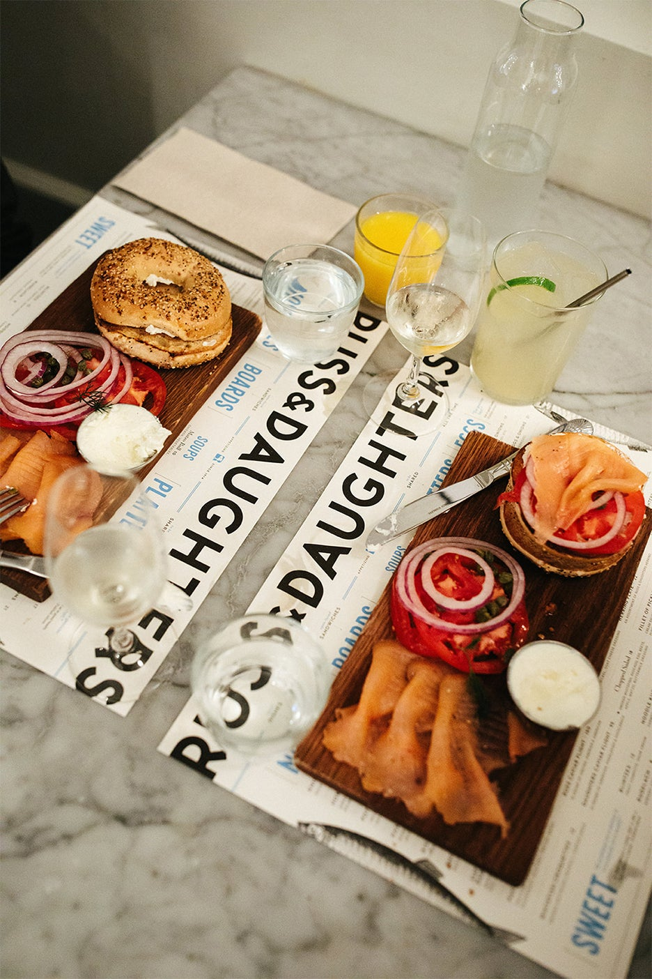Russ and Daughters spread