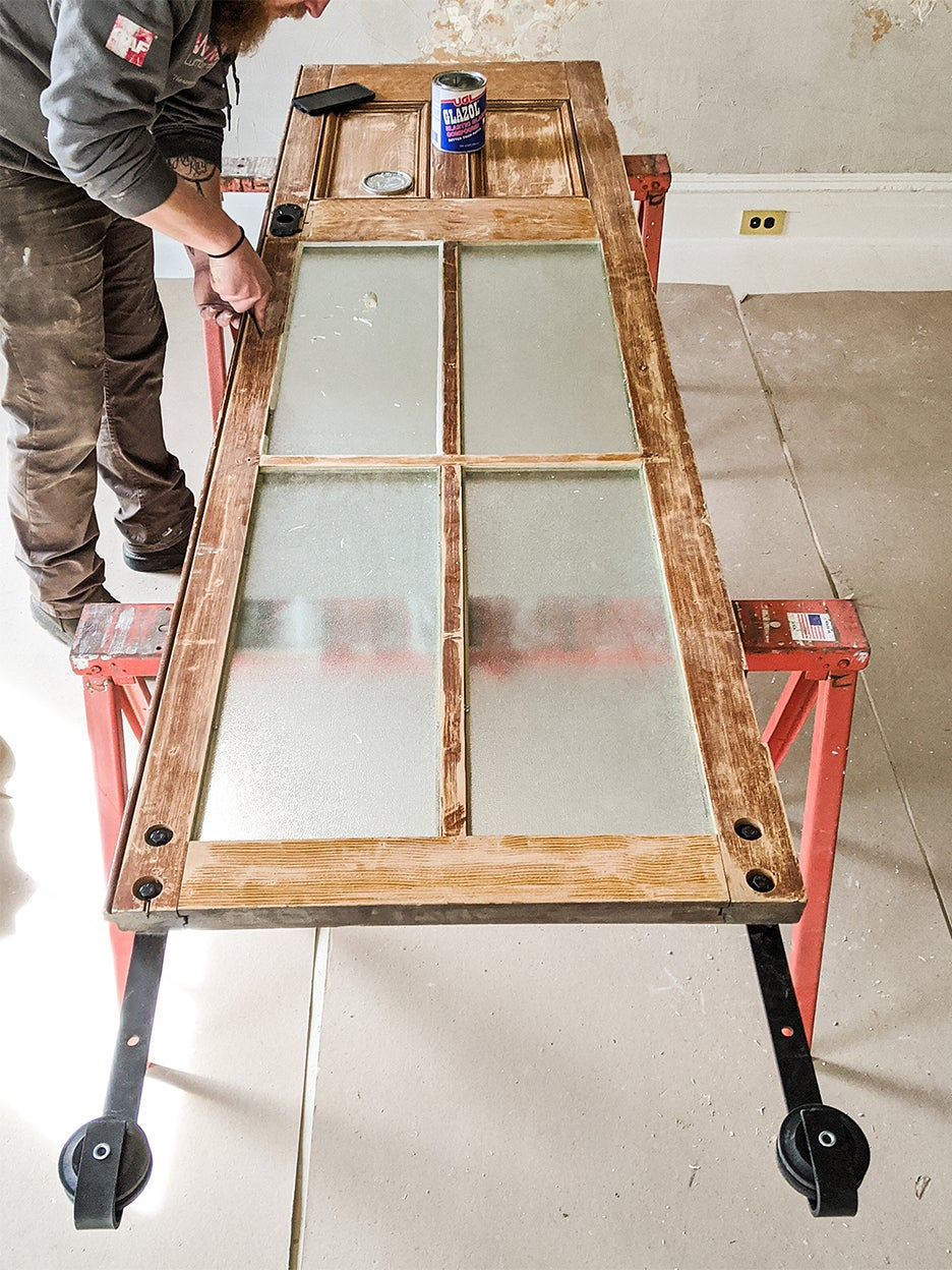 upcycling an old wooden barn door