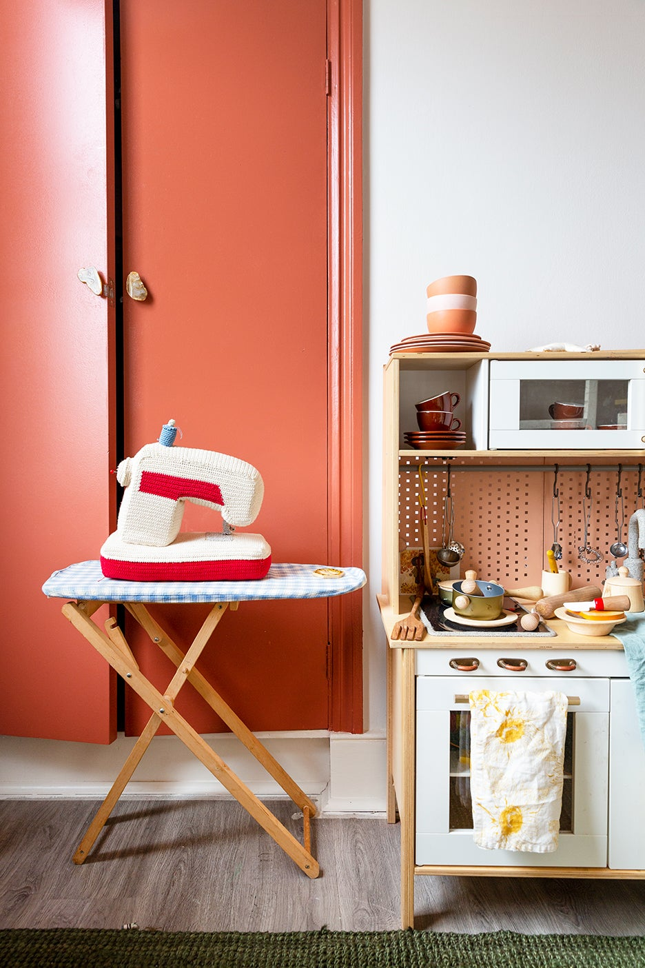play ironing board and kitchen