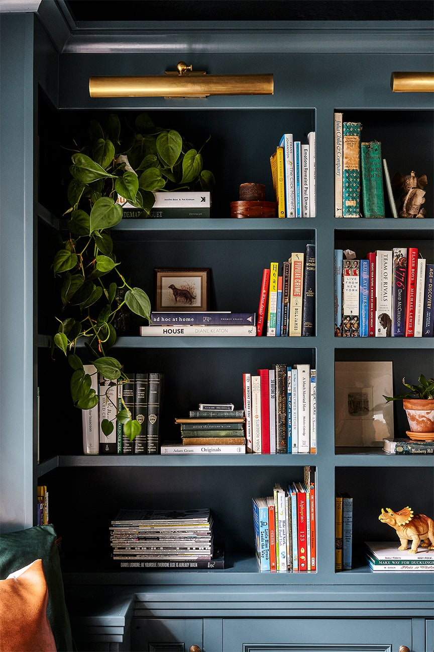 Teal bookcase
