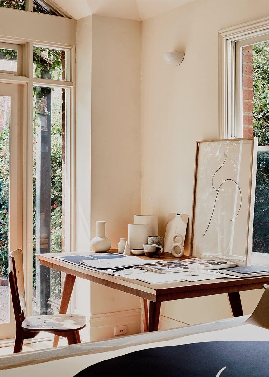 Caroline's desk