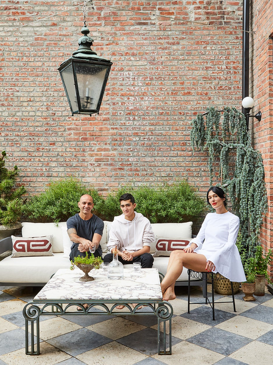 Budget-Friendly Tiles Laid the Groundwork for This Outdoor Living Room