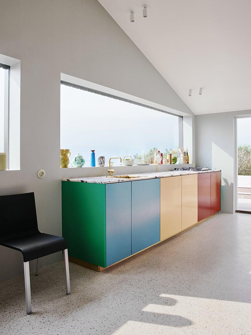 color blocked kitchen