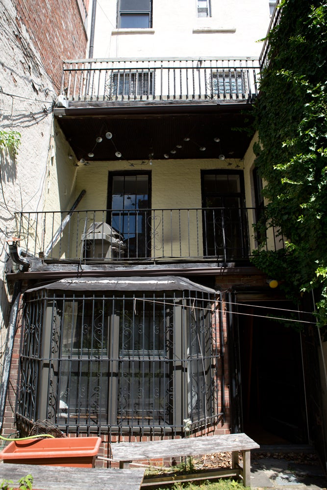 worn down yellow house