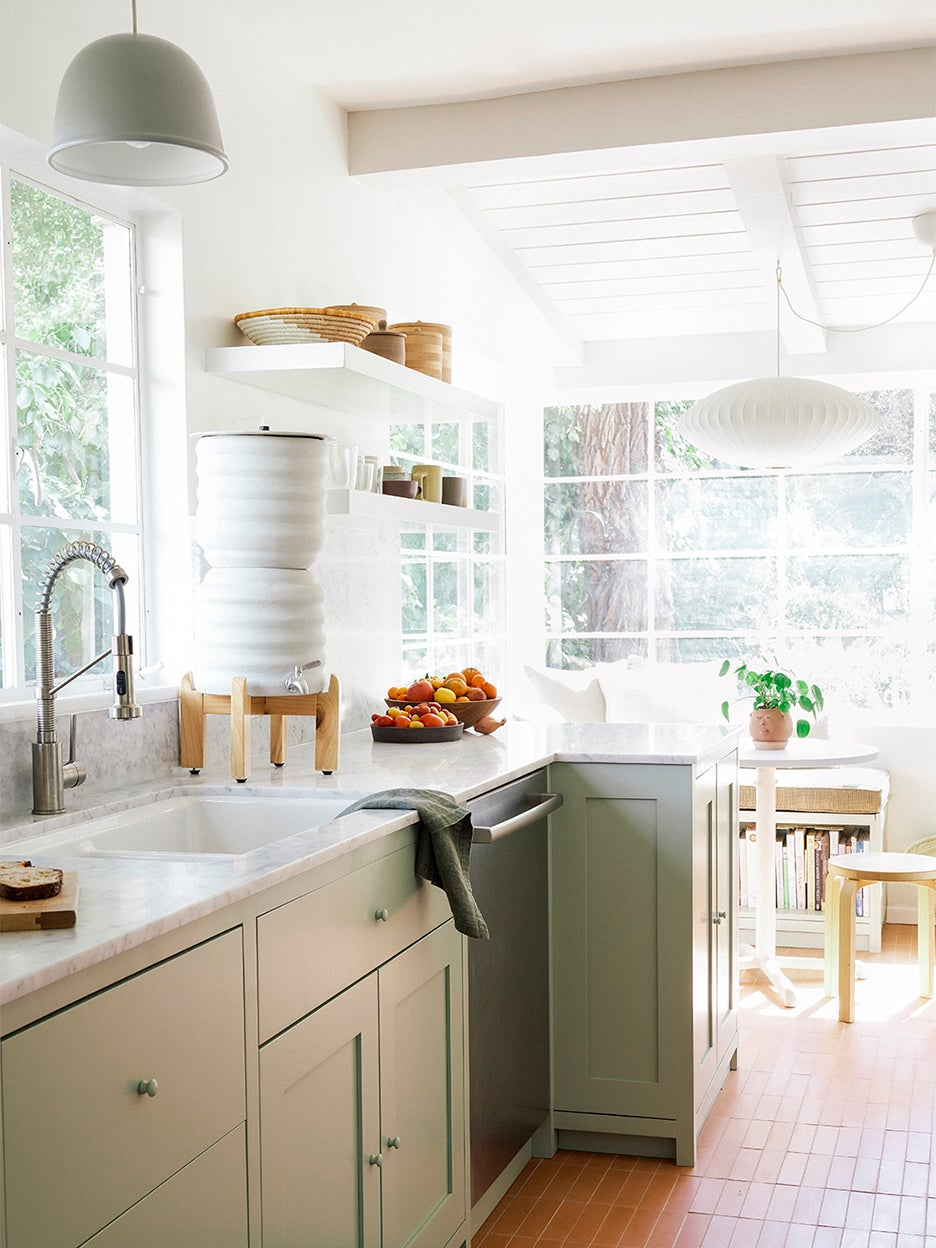 sunny, small kitchen