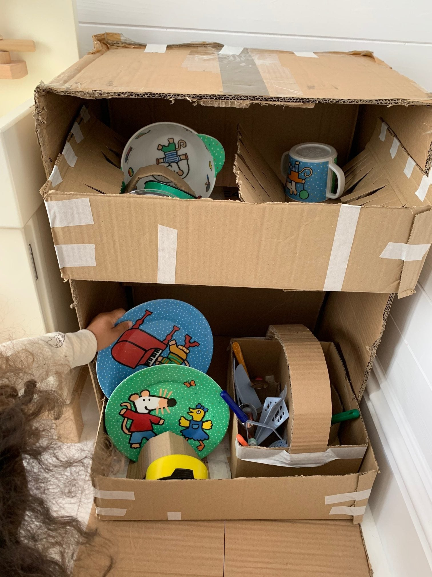 cardboard dishwasher
