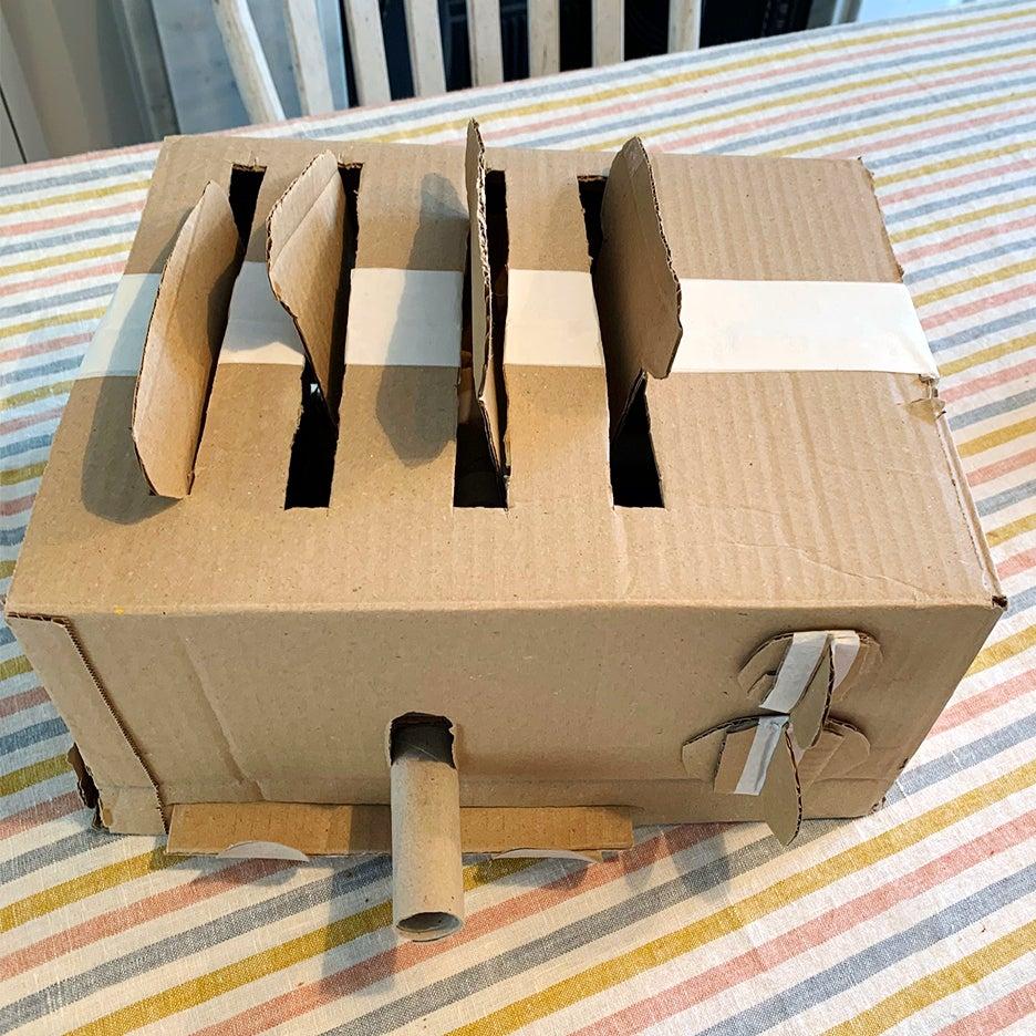 cardboard toaster