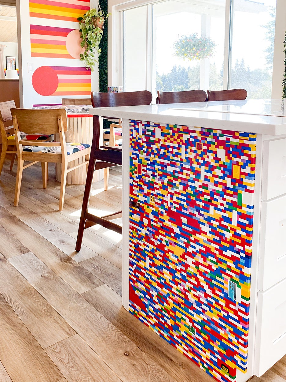 colorful lego wall