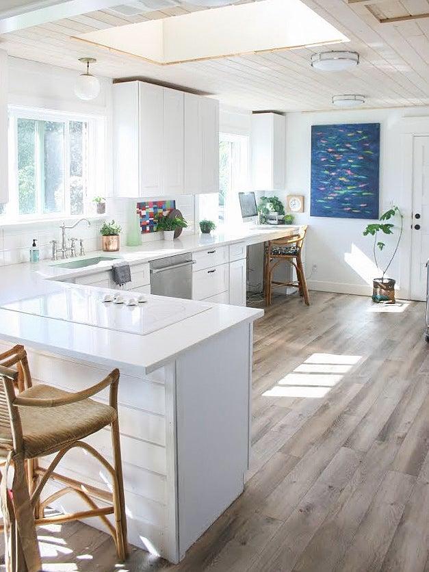 plain white kitchen before