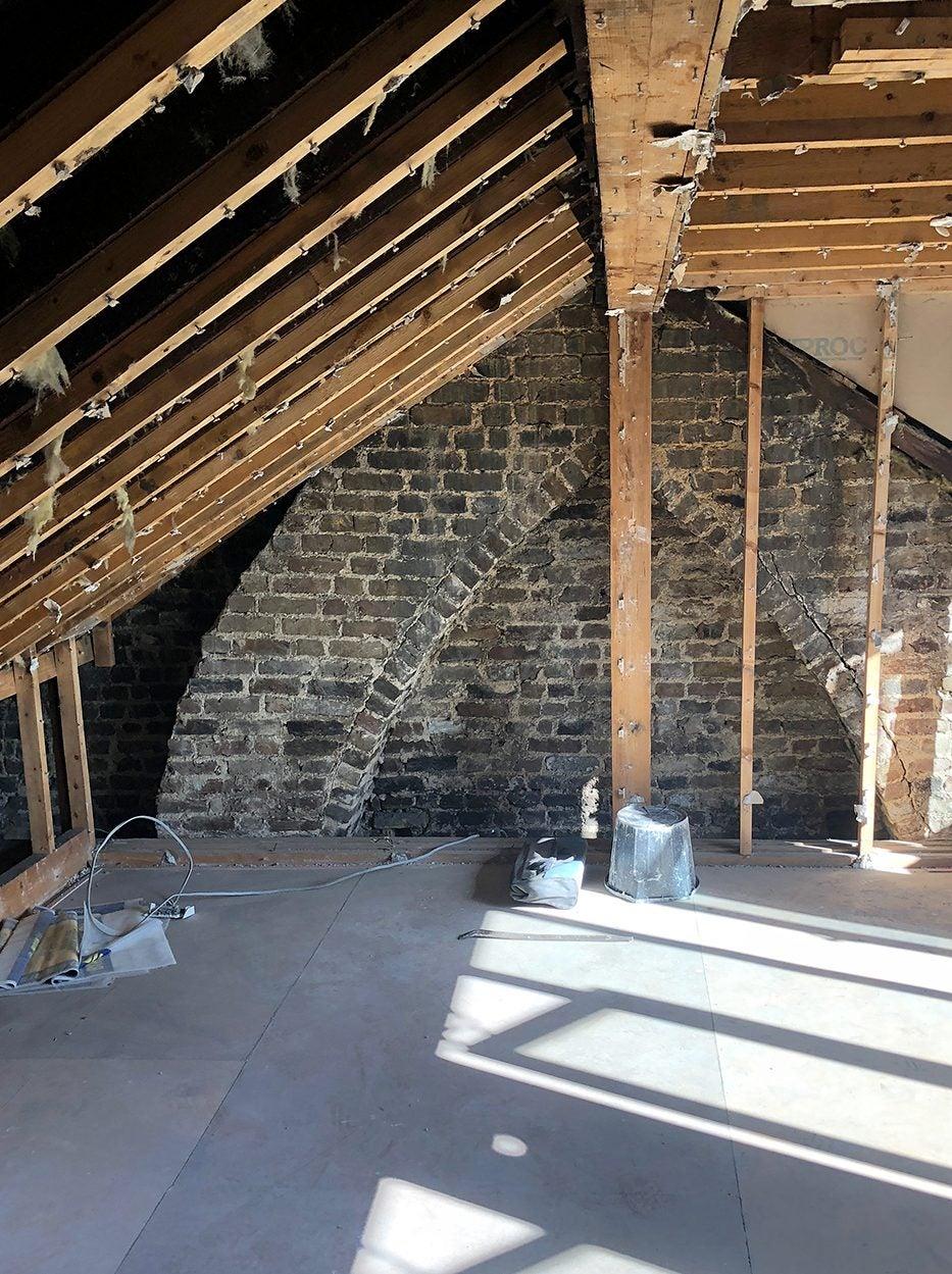Loft during renovation