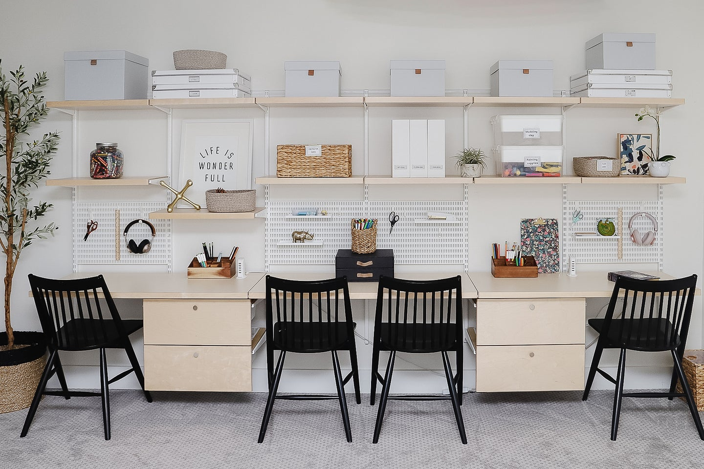 Container Store Elfa kids workstation