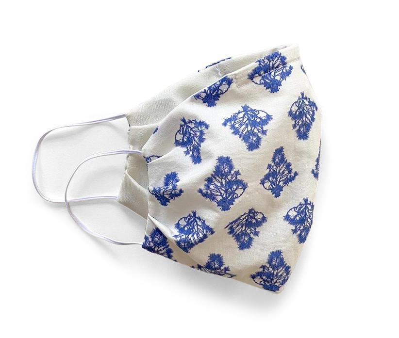 Brazil Tree Blue Organic Cotton Face Mask, Stevie Howell