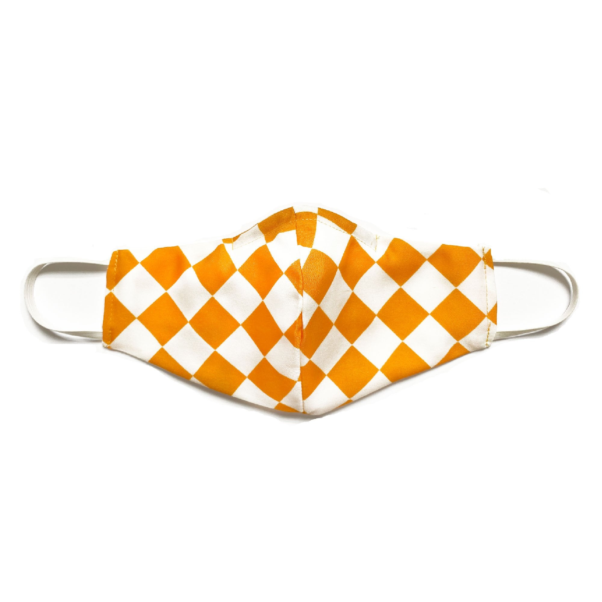"""""""Creamsicle Check"""" Fabric Mask, Late to the Party"""