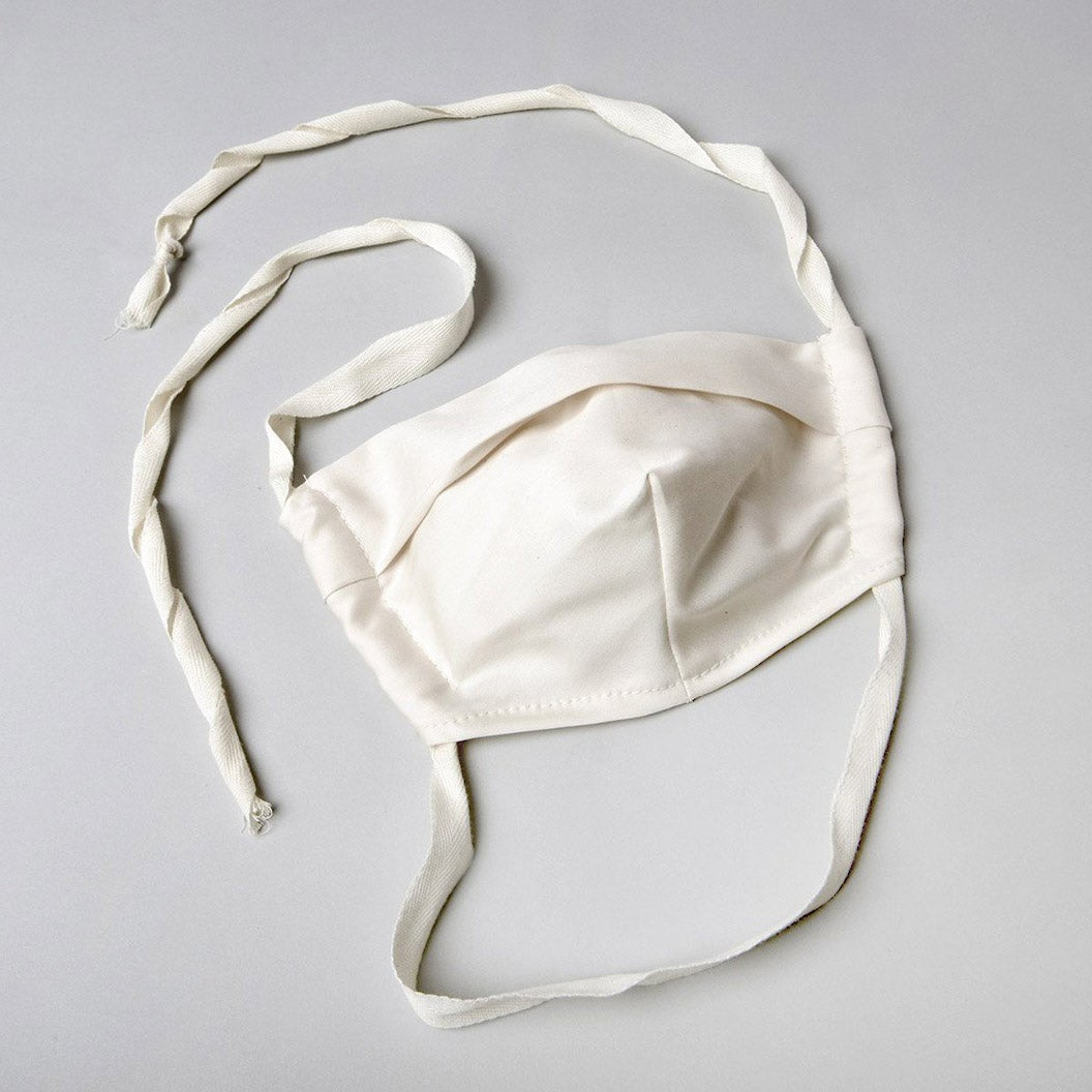 White organic cotton mask